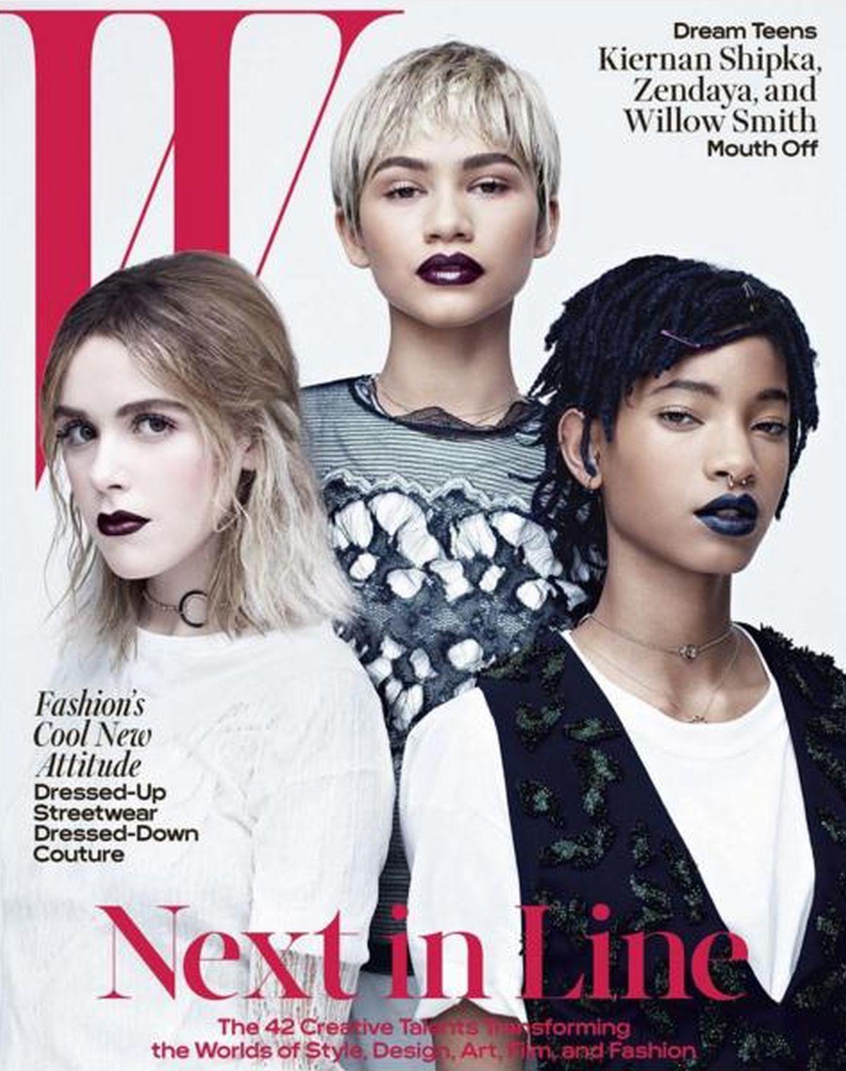 VIDEO: ZVIJEZDE BUDUĆNOSTI Willow, Zendaya i Kiernan na naslovnici 'W'-a