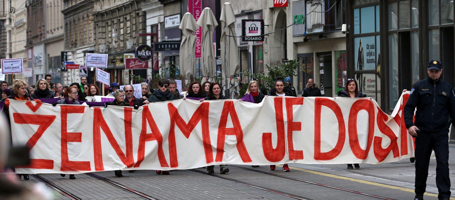"""DAN ŽENA: Aktivistice organizirale prosvjednu povorku """"Ženama je dosta"""""""