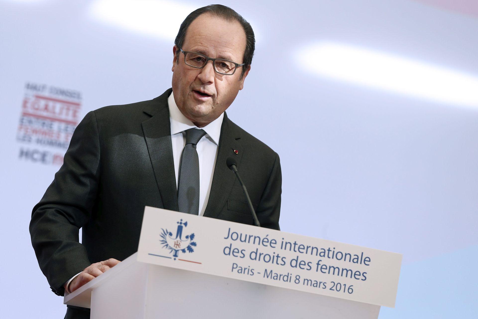 Hollande: Zakon o radu se neće povući, nego će na doradu