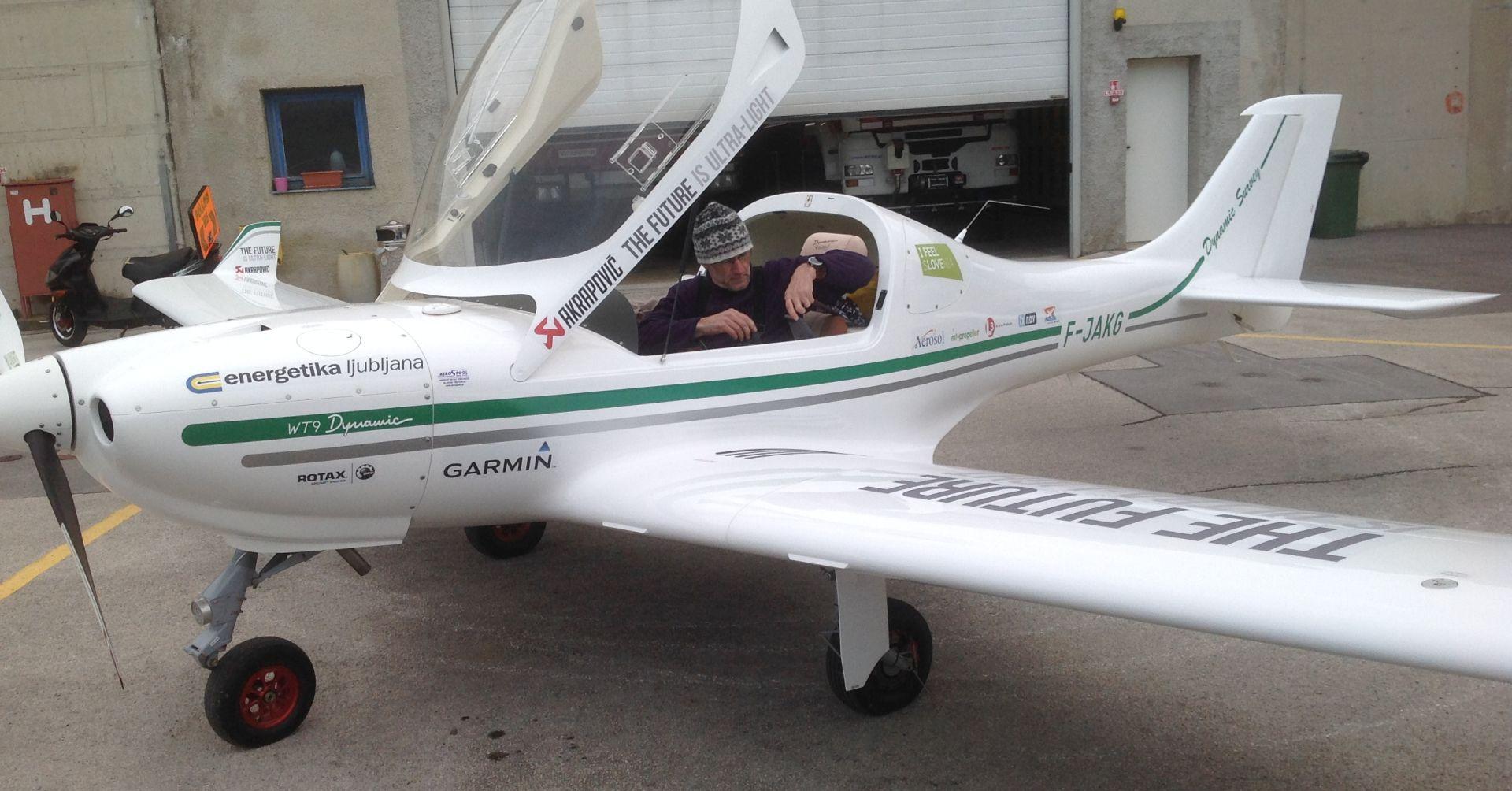 Slovenski pilot Matevž Lenarčič jutros poletio iz Portoroža na put oko svijeta