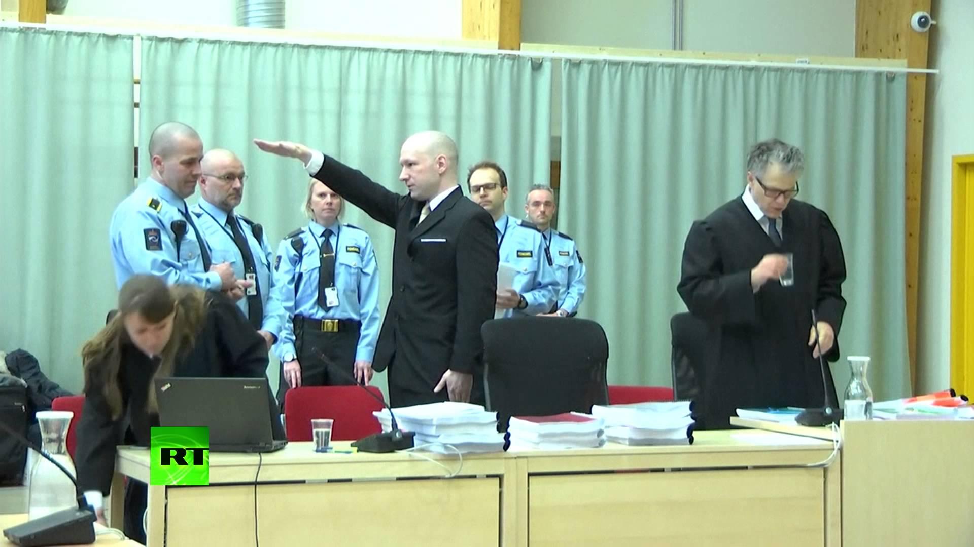 VIDEO: Breivik u sudnici pozdravio nacističkim pozdravom