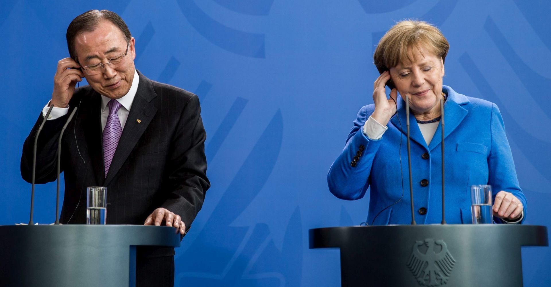 """Ban Ki-moon: Merkel je """"glas morala"""" u izbjegličkoj krizi"""