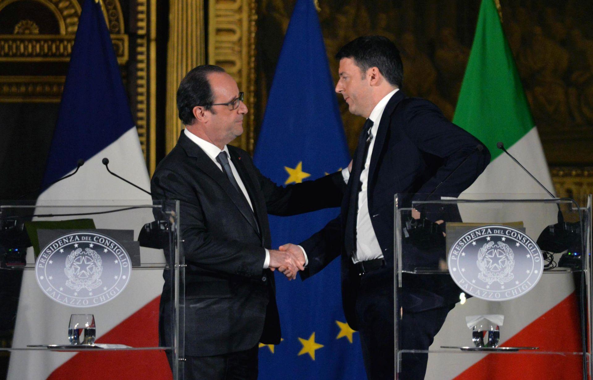 VLAK VELIKIH BRZINA: Hollande i Renzi potpisali sporazum o gradnji pruge Lyon-Torino