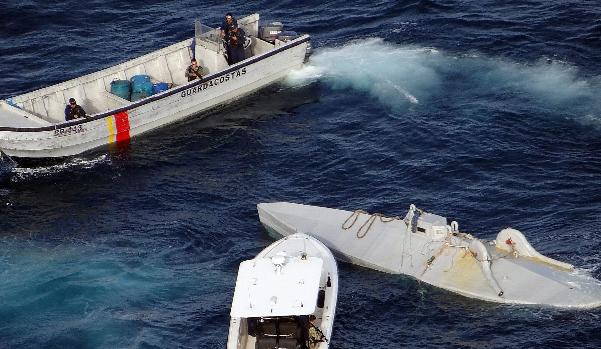 Šest tona kokaina zaplijenjeno u mini-podmornici između Kolumbije i Ekvadora