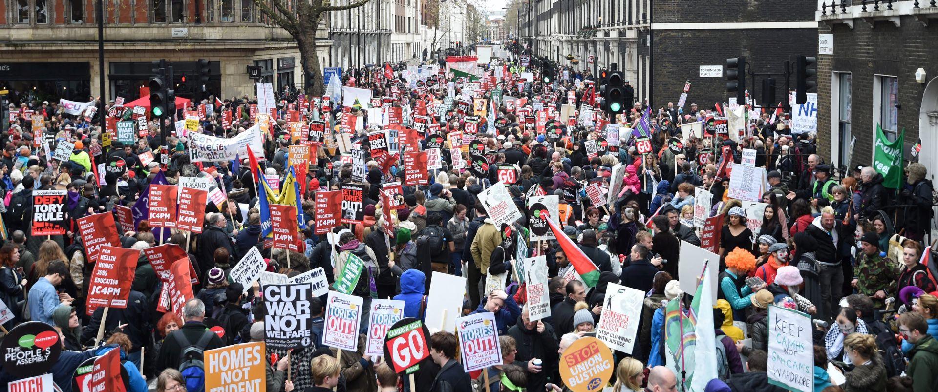 Deseci tisuća prosvjednika u Londonu protiv vladine politike štednje