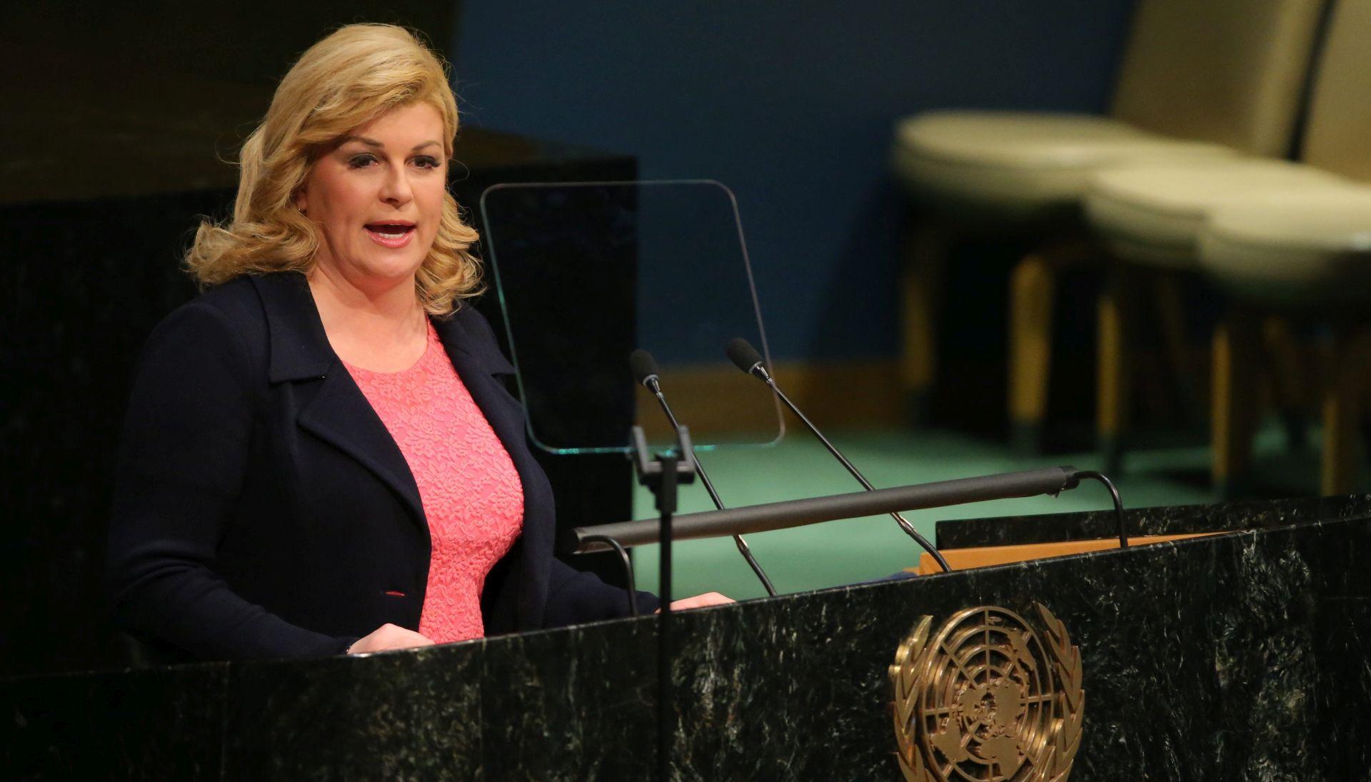 Predsjednica Grabar-Kitarović podržala razvojnu agendu UN-a do 2030.