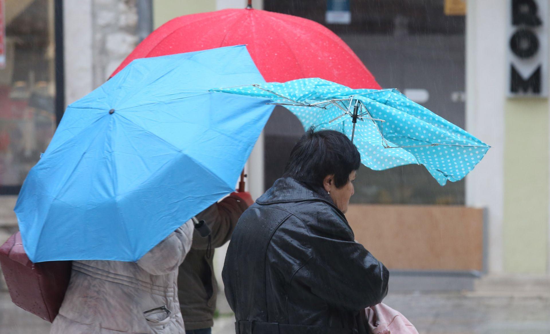 ŽUTA I NARANČASTA UPOZORENJA METEOALARMA Danas oblaci, kiša, grmljavina i sjeverni vjetar