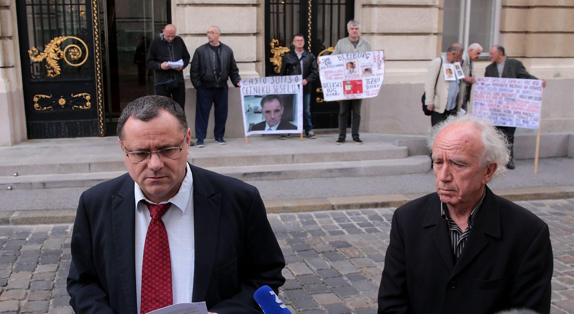 Keleminec ispred Sabora pita zašto Pupovac šuti o Šešelju i objavio da su tužili Tita