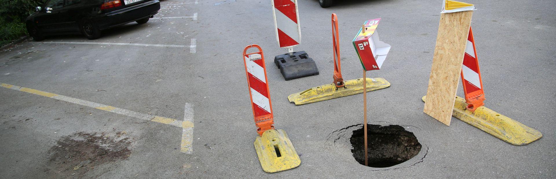 NOVI SLUČAJ: U Zagrebu otvorena još jedna rupa na cesti na Srednjacima