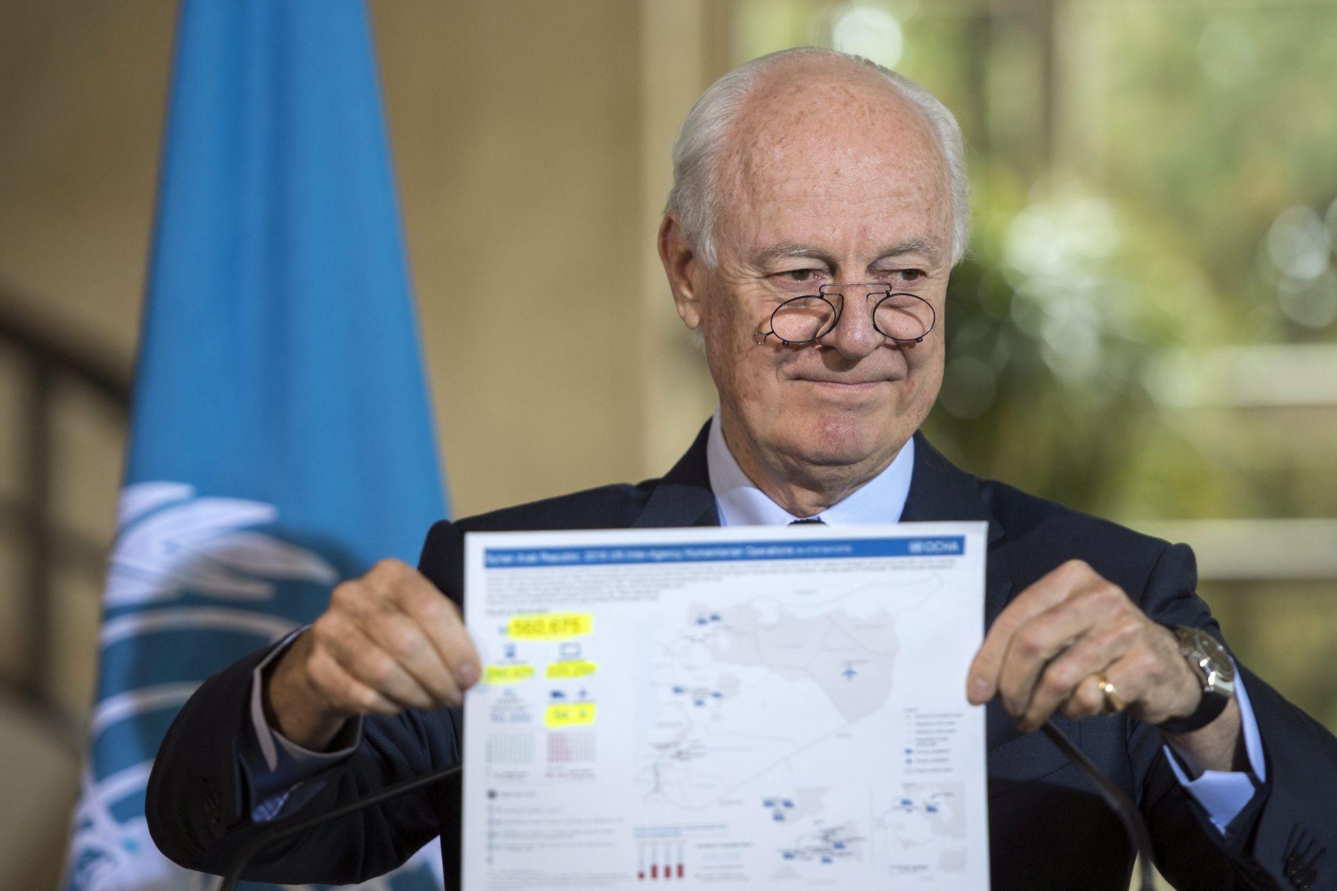UNATOČ ODLUCI OPORBE: UN-ov izaslanik za Siriju nastavlja mirovne pregovore idući tjedan