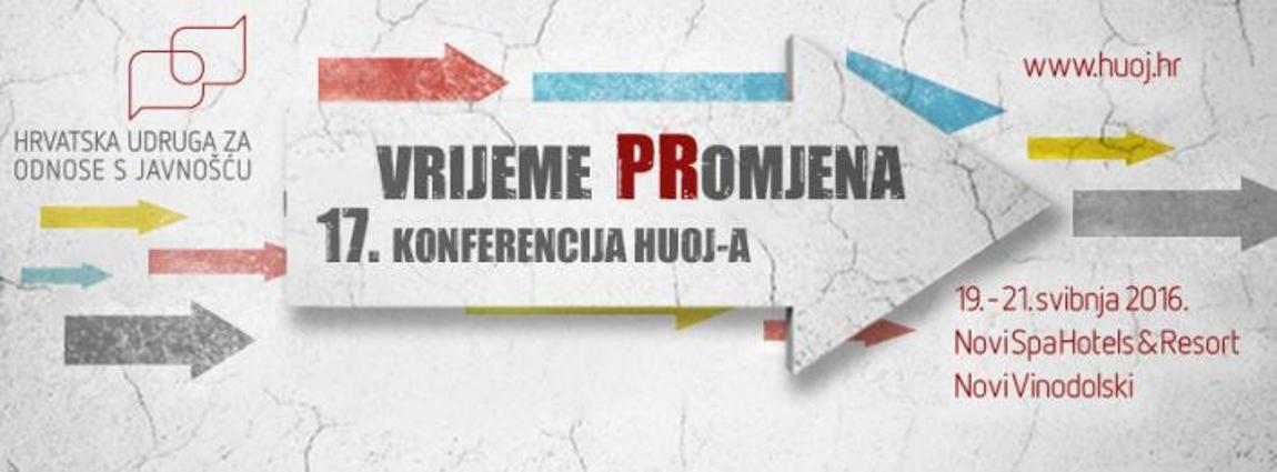 HUOJ konferencija 'Vrijeme PRomjena' održava se od 19. do 21. svibnja