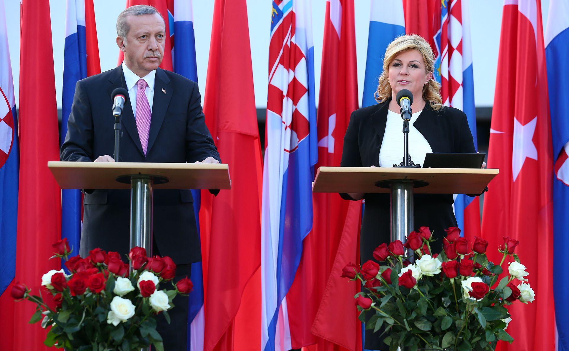 TURSKI PREDSJEDNIK U ZAGREBU: 'Želim da gospodarska razmjena između Turske i Hrvatske dosegne milijardu dolara'