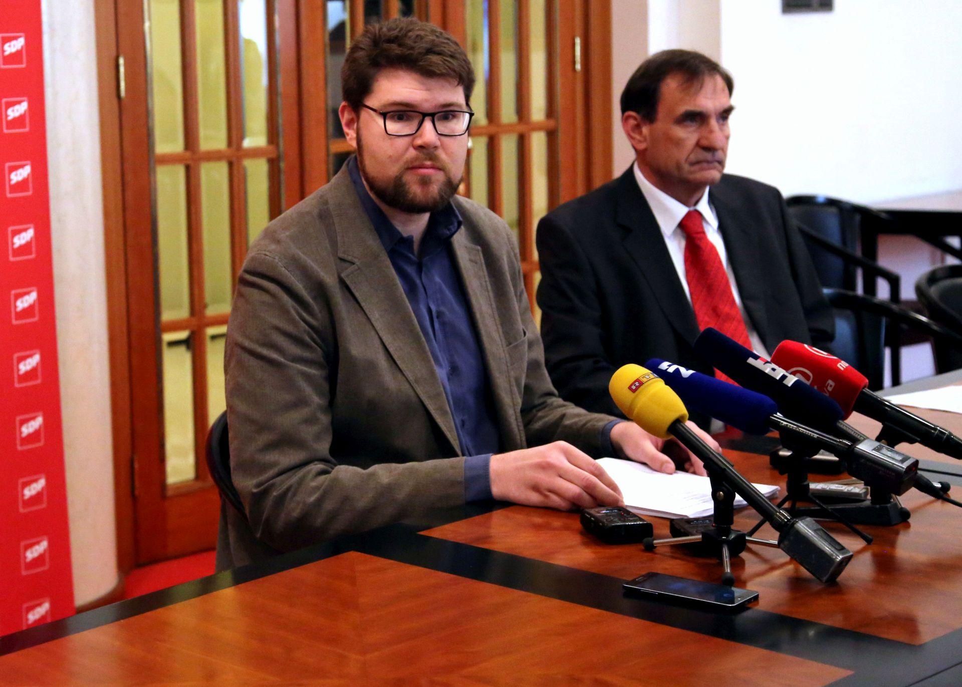 KLUB SDP-a: U proceduru upućeni prijedlozi zakona o referendumu i financiranju političkih aktivnosti
