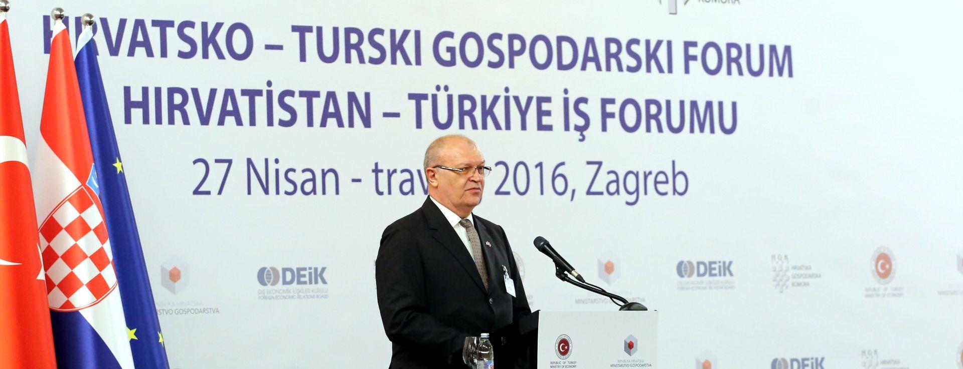 GOSODARSKI FORUM: Gospodarska suradnja Hrvatske i Turske dobra, ali daleko od potencijala