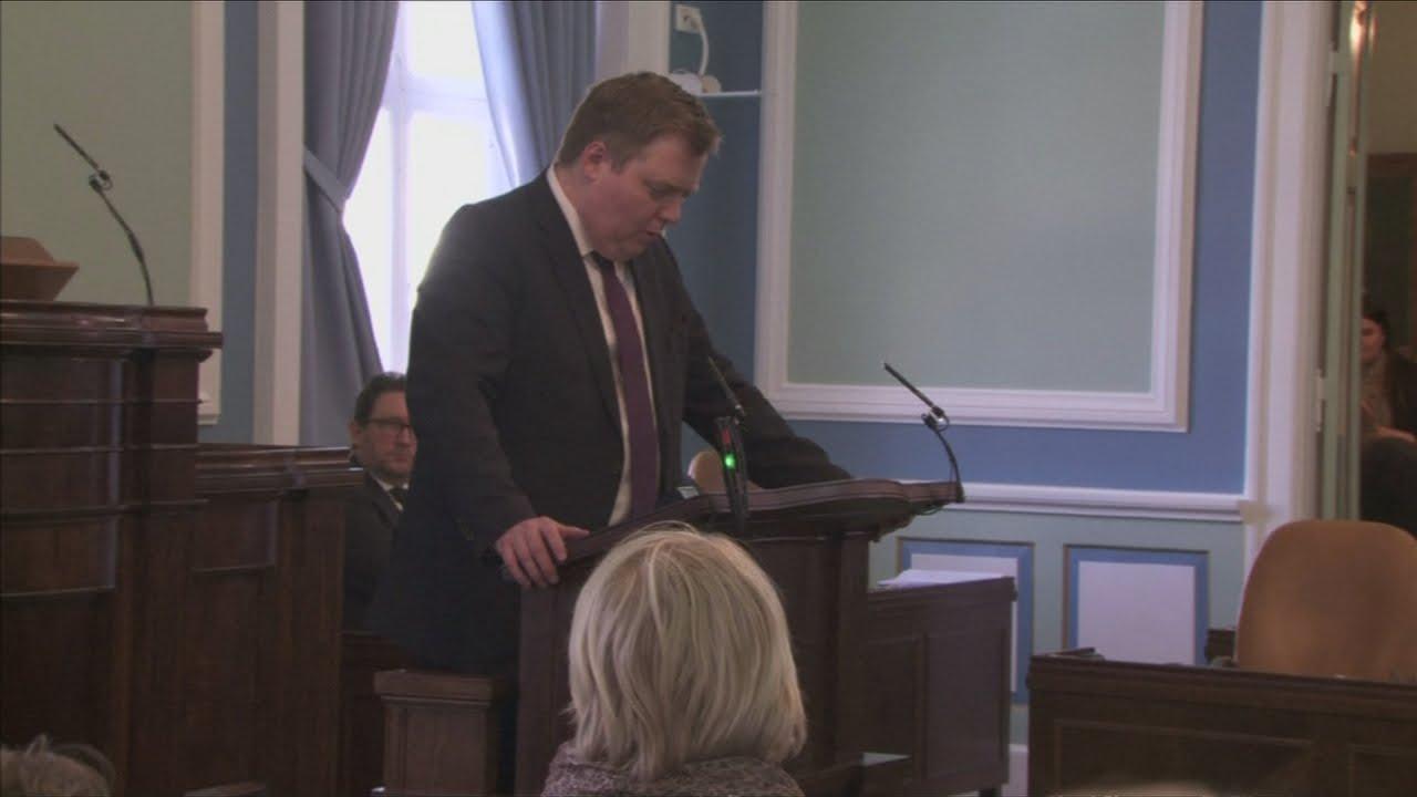 VIDEO: Islandski premijer dao ostavku na dužnost