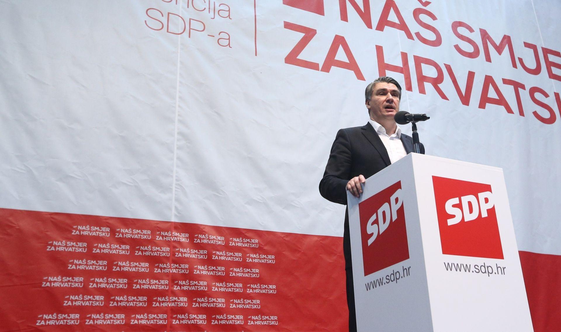 Zoran Milanović: SDP neće dugo biti u oporbi, vratit će Hrvatskoj osmijeh i skinuti ovu grimasu