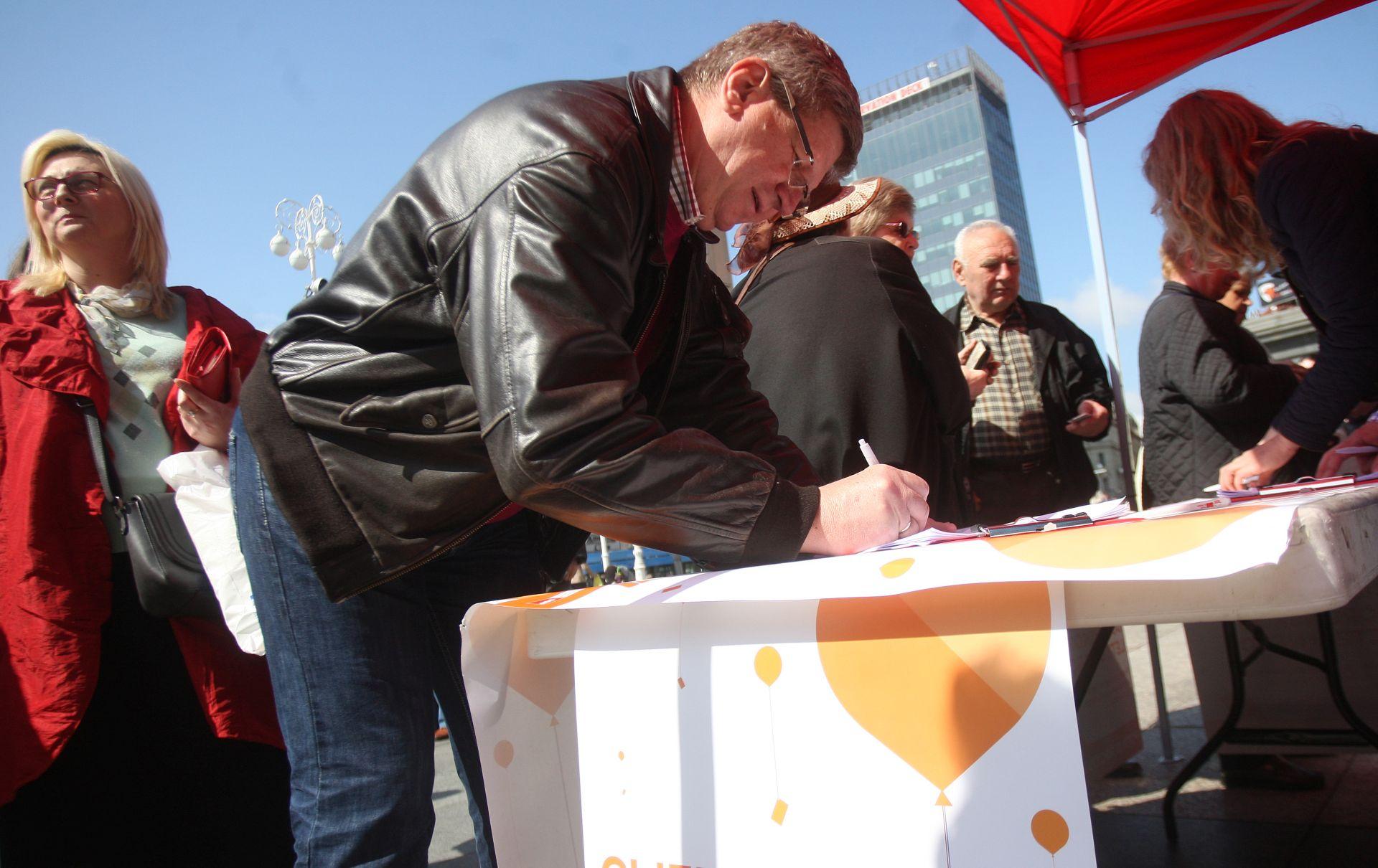 FORUM MLADIH HRVATSKE: Potpisivanje peticije protiv poskupljenja dopunskog zdravstvenog osiguranja