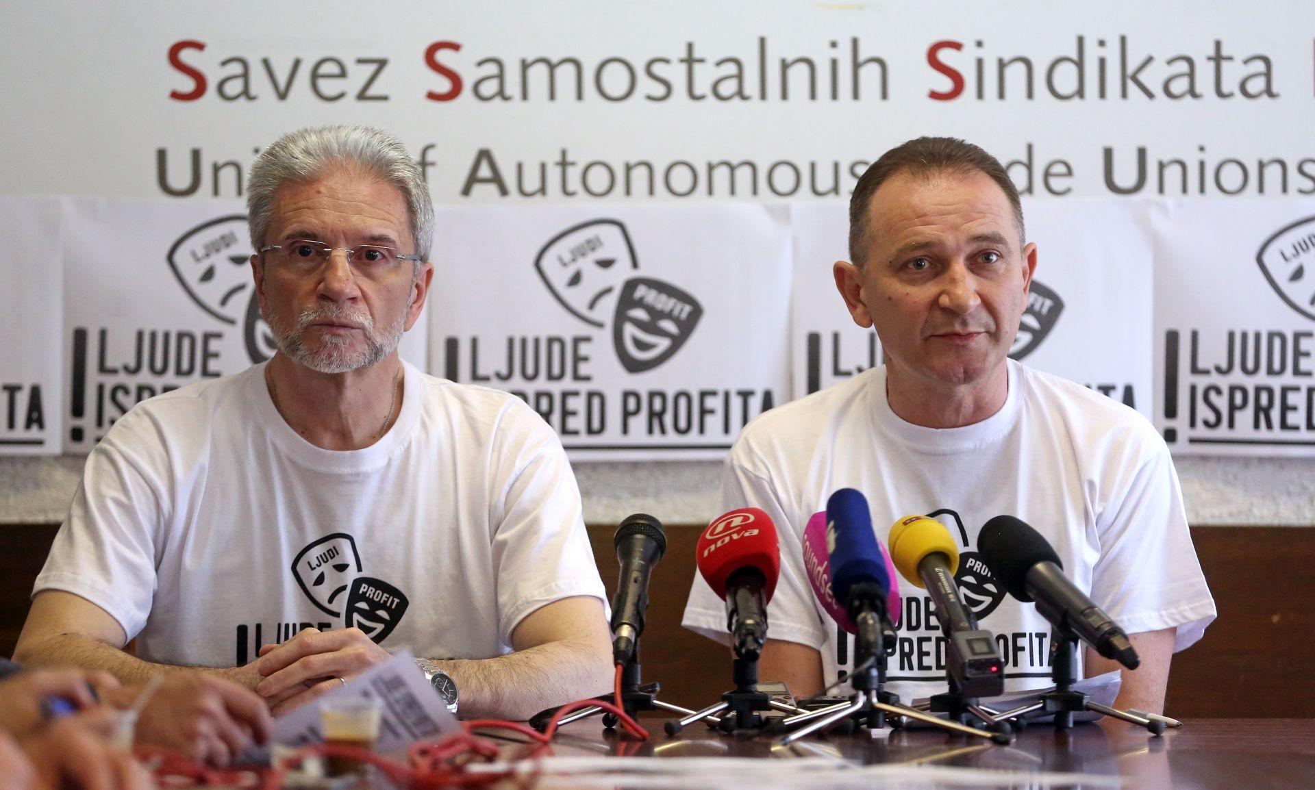 """""""Ljude ispred profita"""": Sindikati za 1. svibnja najavljuju prosvjed"""
