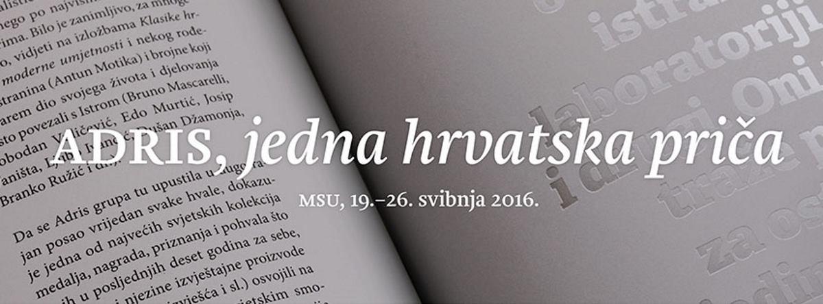 Svečano otvorenje izložbe i predstavljanje monografije Adris grupe