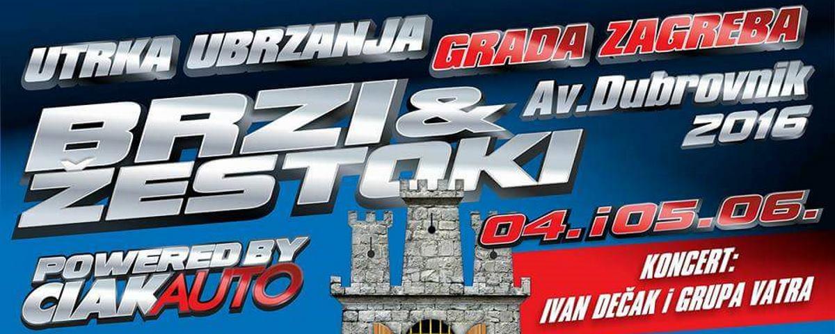 NAGRADNA IGRA Utrka ubrzanja Brzi i žestoki stiže na zagrebačke ceste 4. i 5. lipnja