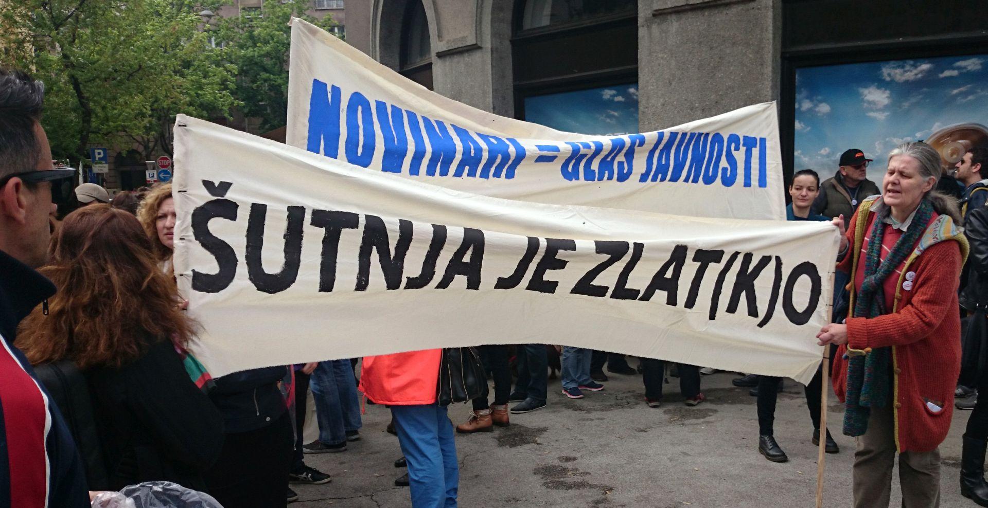DAN SLOBODE MEDIJA Novinari prosvjedovali zbog narušavanja medijskih sloboda