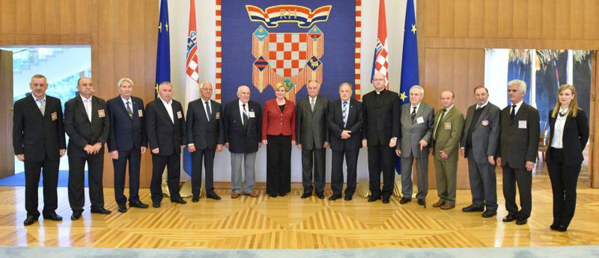 Predsjednica Republike primila izaslanstvo Počasnog bleiburškog voda