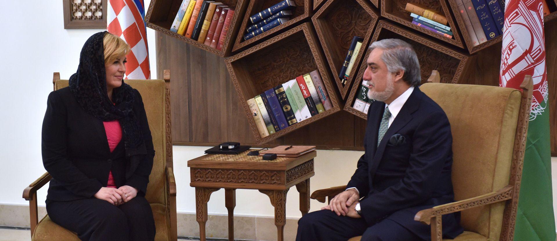 Predsjednica Grabar-Kitarović u Kabulu razgovarala s Abdulahom Abdulahom