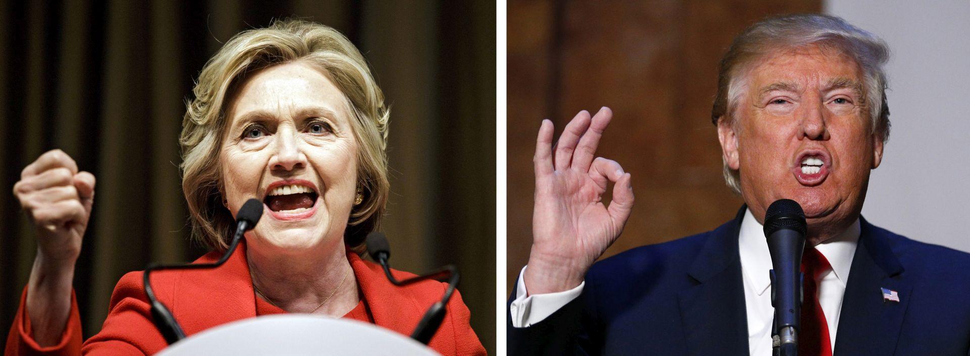 PRVE ANKETE: Clinton znatno vodi ispred Trumpa nakon konvencija