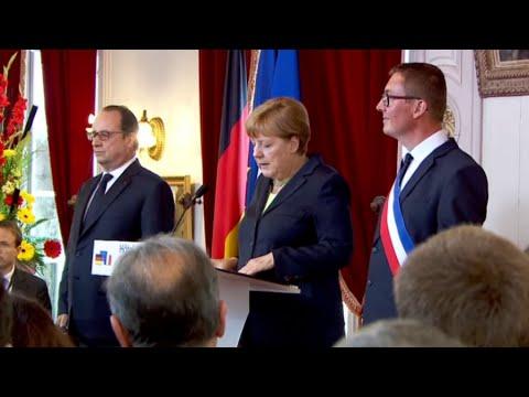 VIDEO: François Hollande i Angela Merkel na obilježavanju sto godina od bitke za Verdun