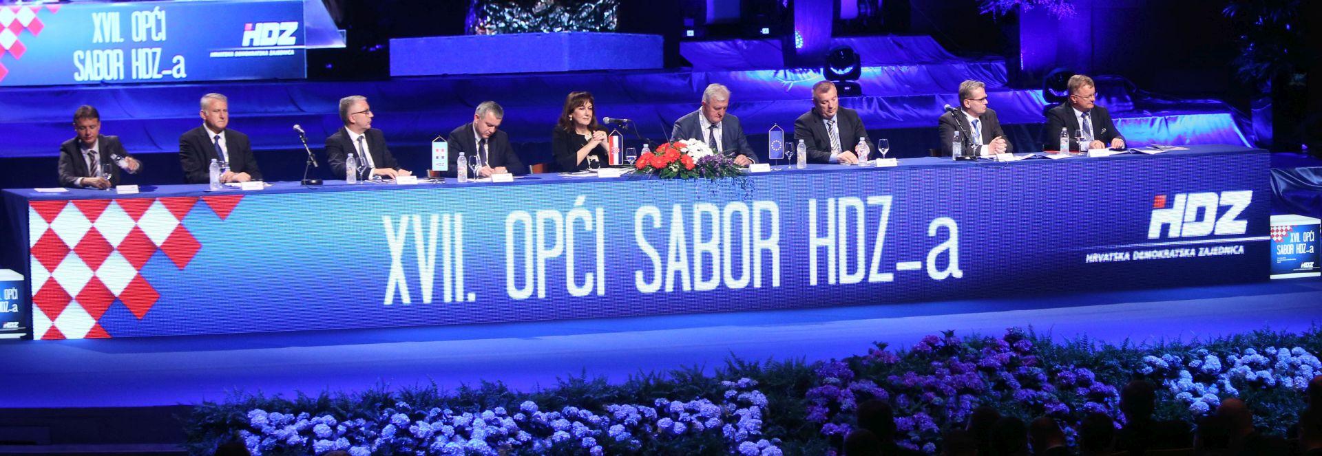 OPĆI SABOR HDZ-a: Prebrojani glasovi, HDZ dobio novo predsjedništvo