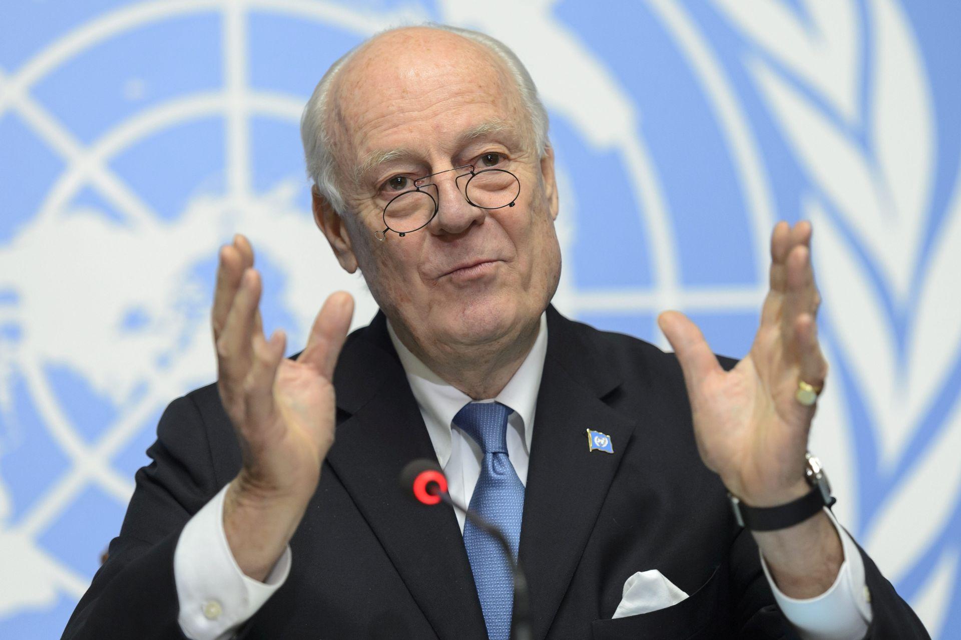 RAZGOVOR S LAVROVOM: Posebni izaslanik UN-a za Siriju Staffan de Mistura u utorak u Moskvi