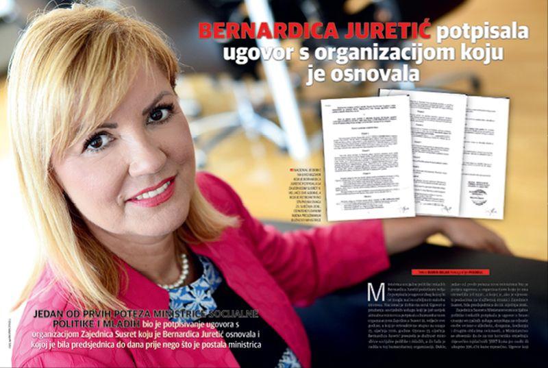Nakon otkrića Nacionala Bernardica Juretić prijavljena Povjerenstvu za odlučivanje o sukobu interesa