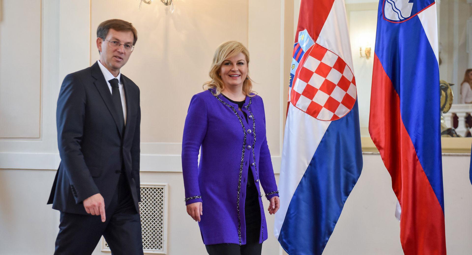 """Grabar-Kitarović i Cerar o otvorenim pitanjima, predsjednica ističe potrebu suradnje u EU nakon britanskog """"da"""" izlasku"""