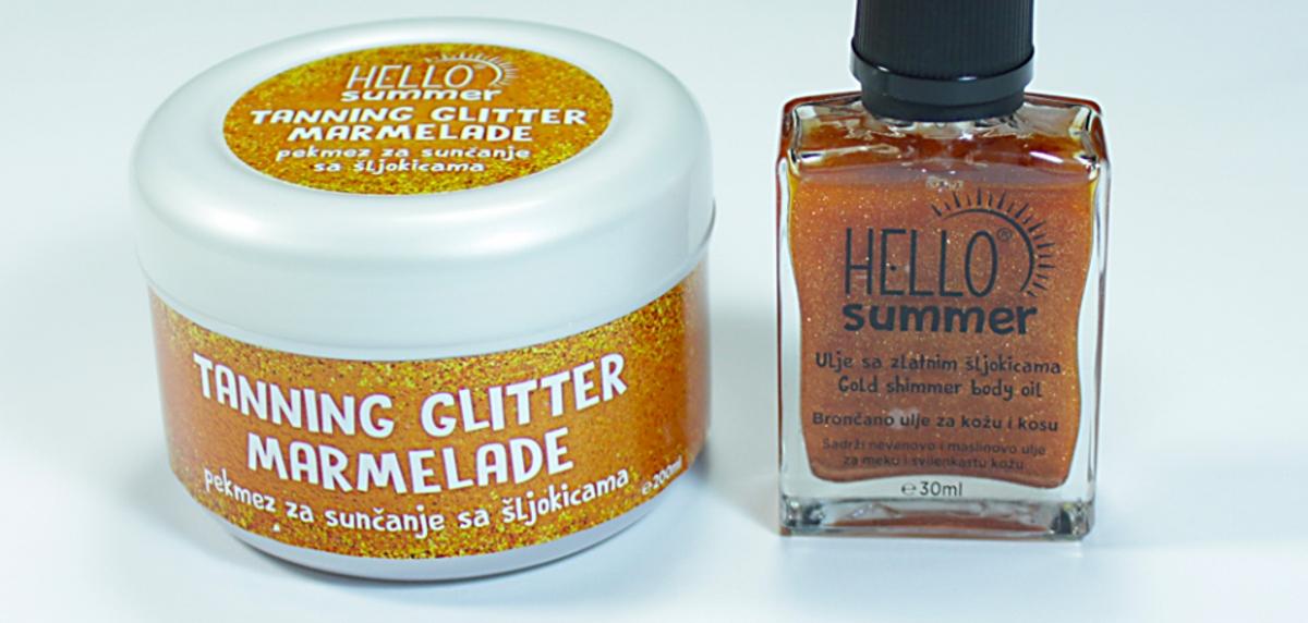 HELLO BEAUTY Njegujte kožu uz Hello Summer ulje i pekmez sa šljokicama