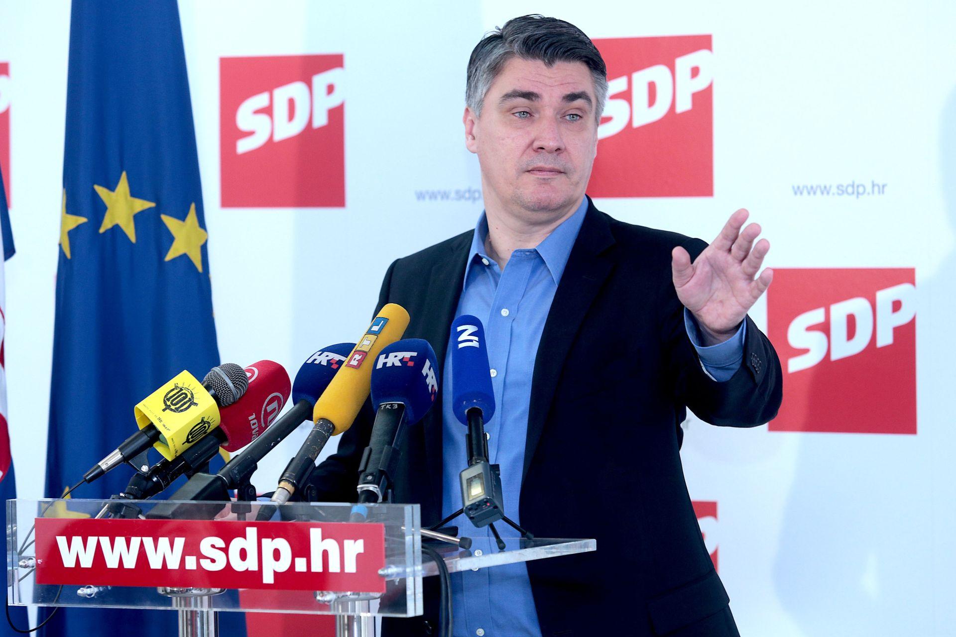 Zoran Milanović: 'Naš cilj su novi izbori i odlazak cijele ove Vlade'