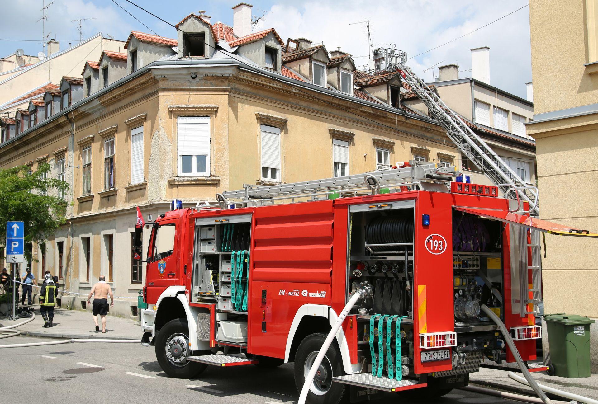 POŽAR U CENTRU ZAGREBA: Ozlijeđena jedna osoba, oštećenima ponuđen smještaj
