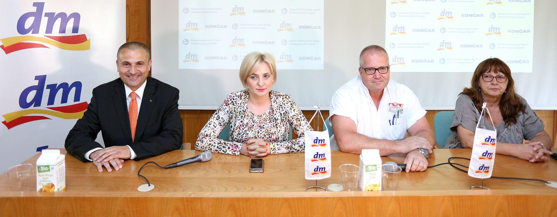 Donacija dm-a i Končara za lakšu mobilnost pacijenata Klinike za dječje bolesti Zagreb