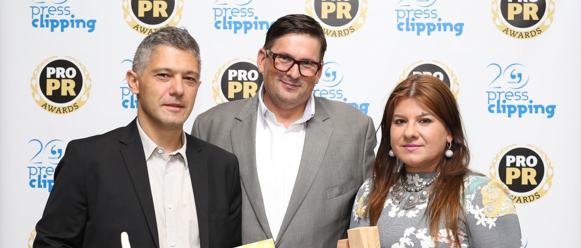 Dodijeljena PRO.PR Awards priznanja Dijani Đerđ i Goranu Pivarskom