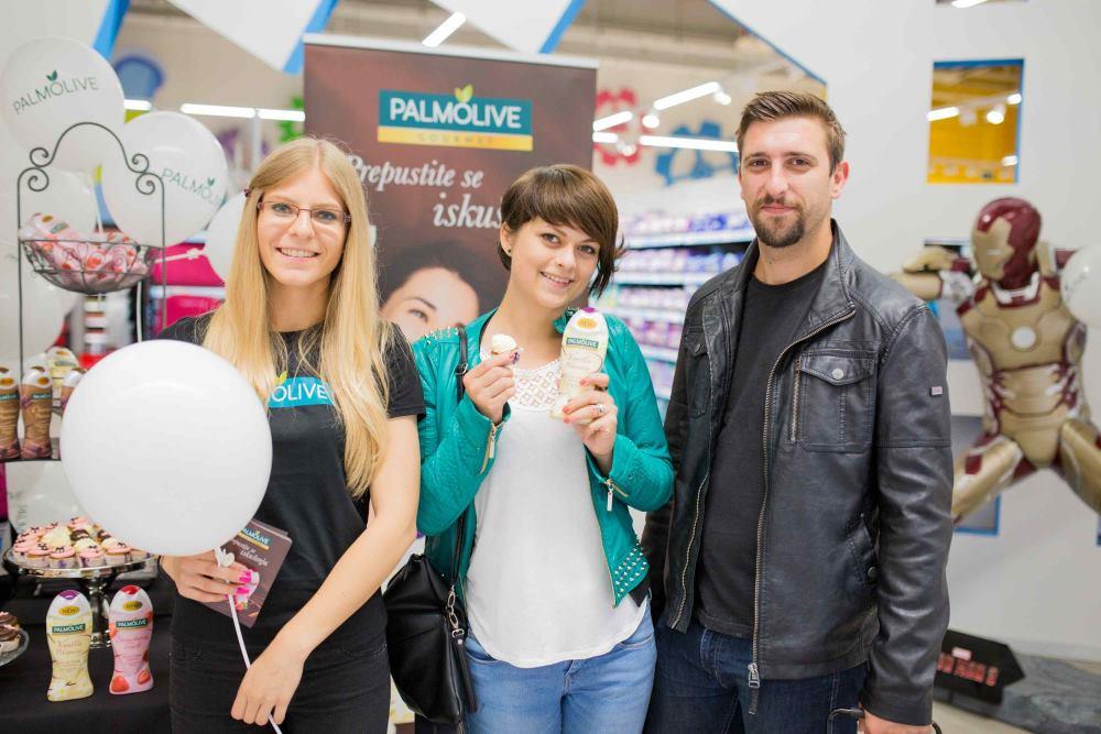 Promocija gelova za tuširanje Palmolive Gourmet Body Butter Wash o zagrebačkom Konzumu na Radničkoj cesti