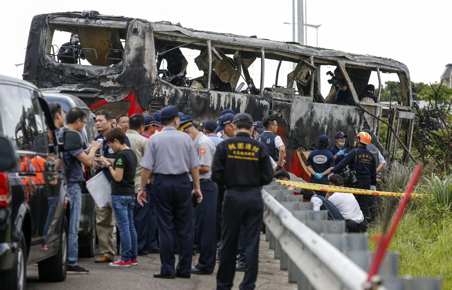 POŽAR U AUTOBUSU: Poginulo najmanje 26 putnika u Tajvanu