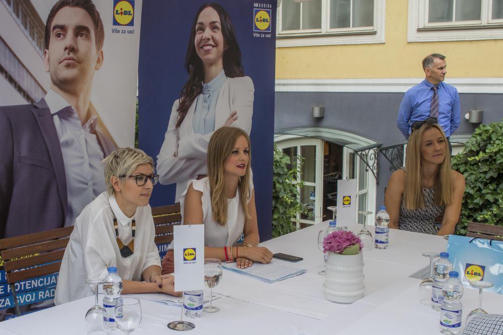 Voditeljica Sektora ljudskih resursa, Romina Ivančić i voditeljica Odjela odnosa s javnošću Lidla Hrvatska, Lana Jugo