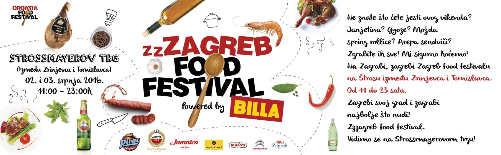ZZZAGREB FOOD FESTIVAL Novo gastro iskustvo na Strossmayerovom trgu 2. i 3. srpnja