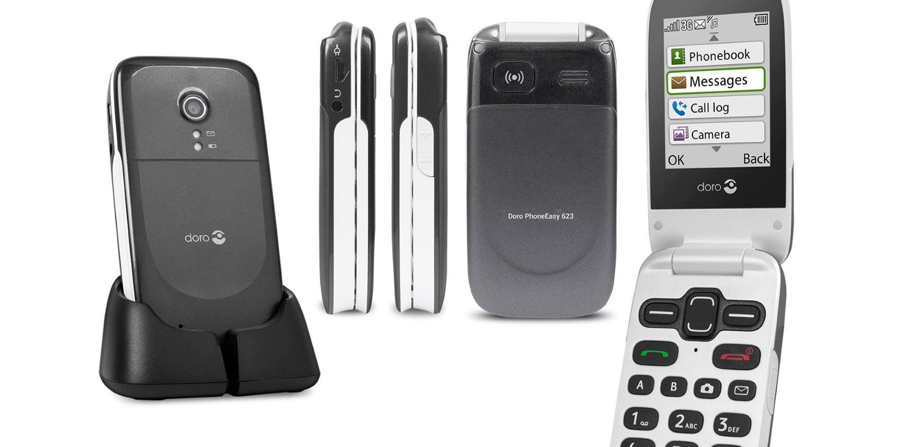 DORO Mobitel za starije osobe s GPS-om i slušnim aparatom