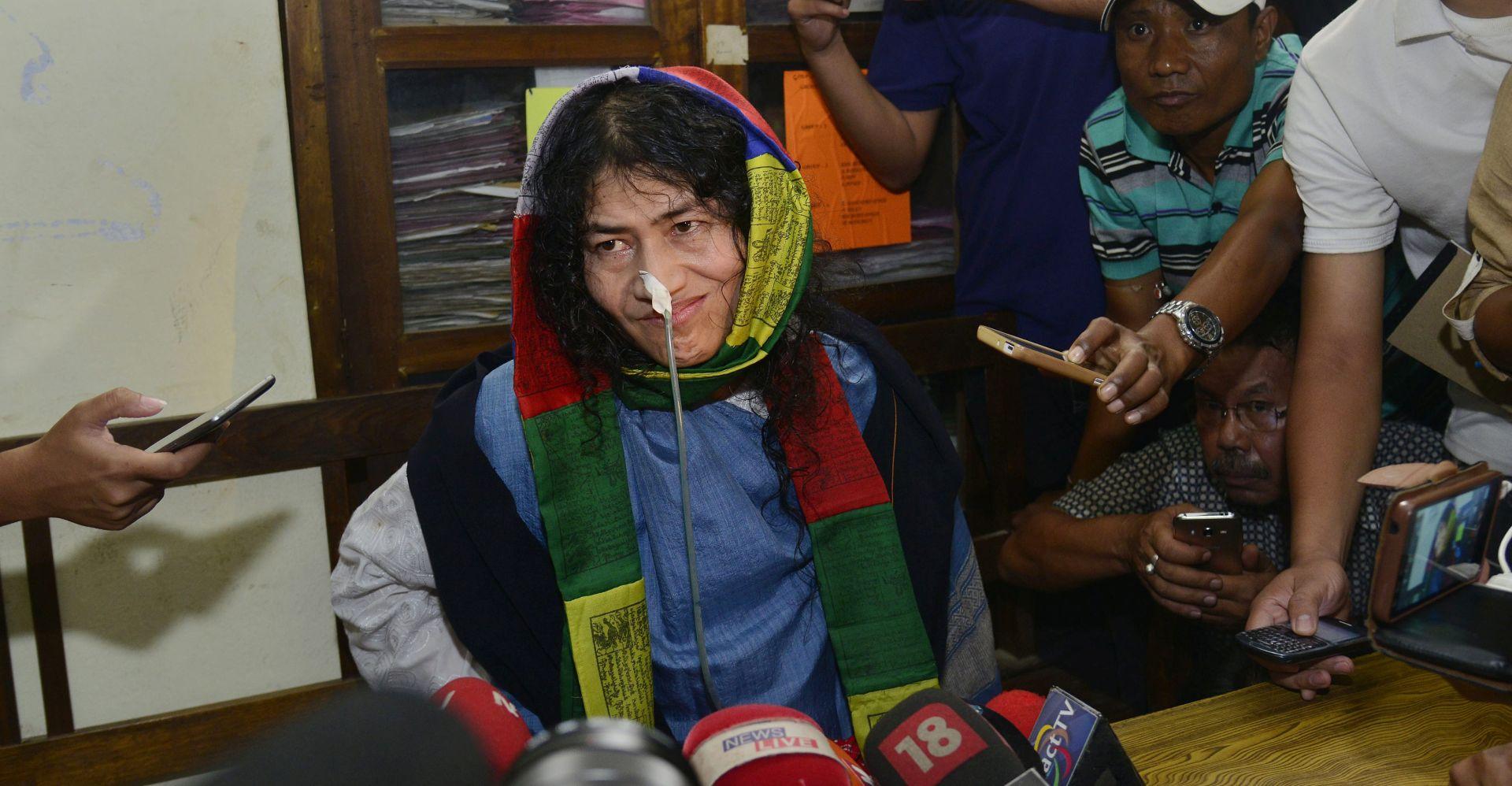 'ŽELJEZNA DAMA MANIPURA' Indijska aktivistica prekida štrajk glađu koji je trajao 16 godina
