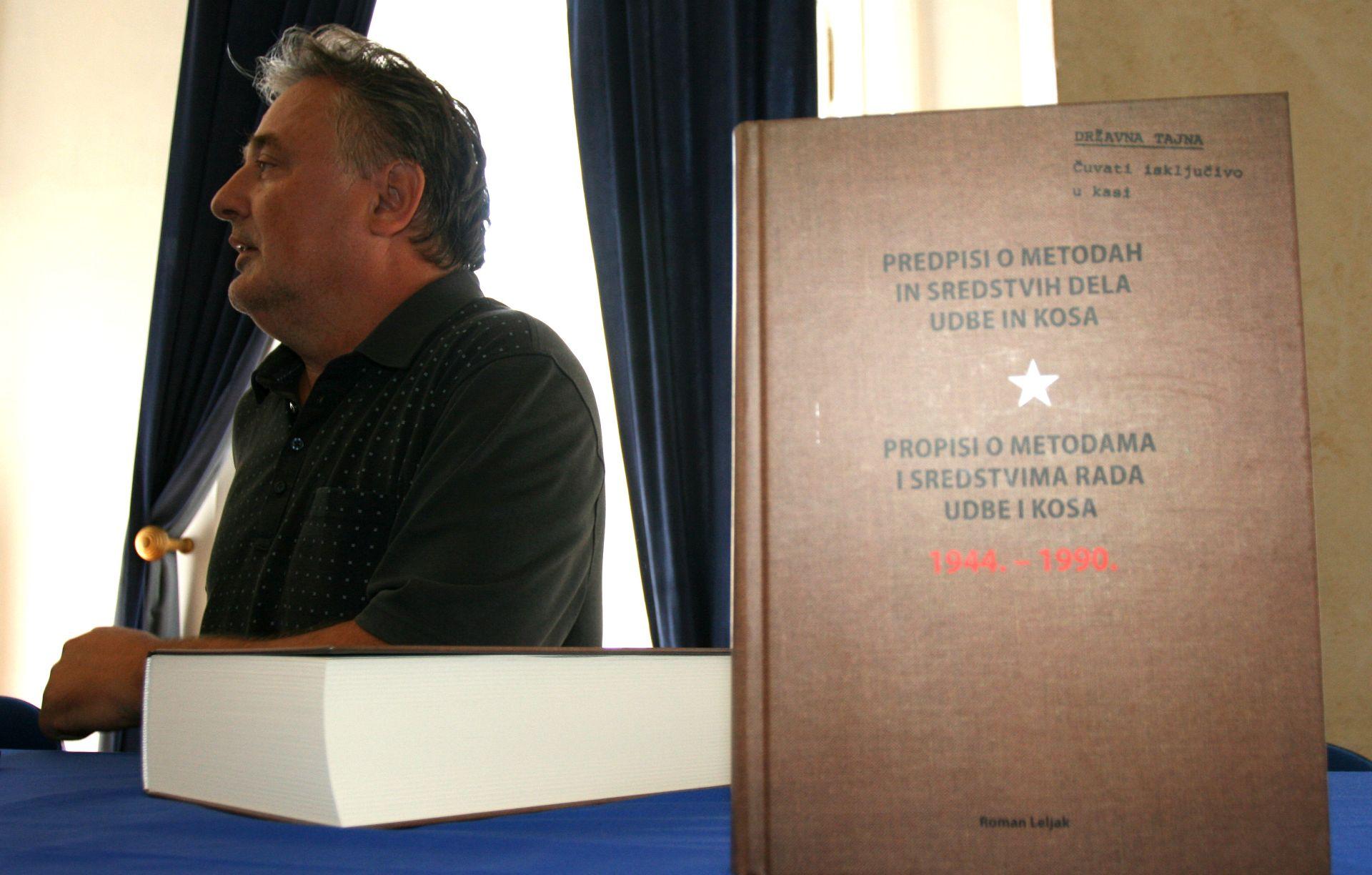 """Predstavljena knjiga R. Leljaka """"Propisi o metodama i sredstvima rada Udbe i Kosa"""""""
