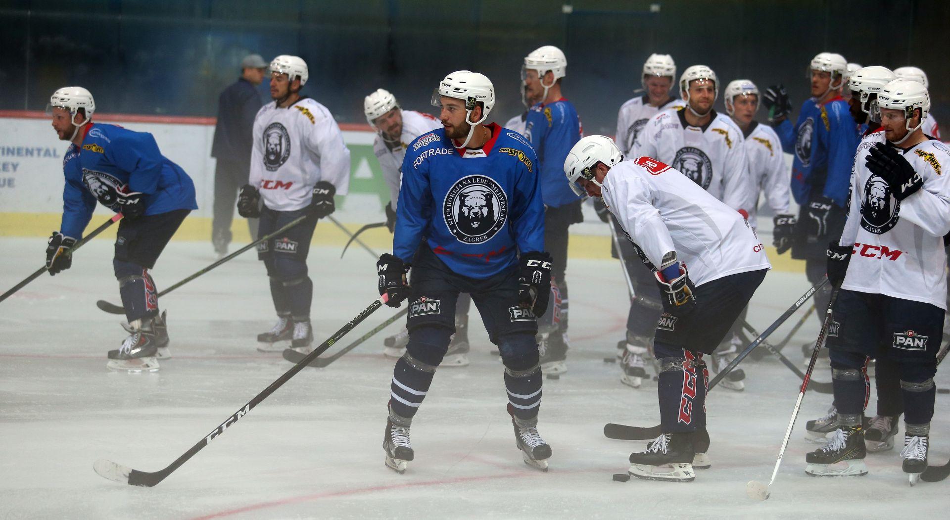 Prvi trening Medveščaka pred svojim navijačima u Ledenoj dvorani