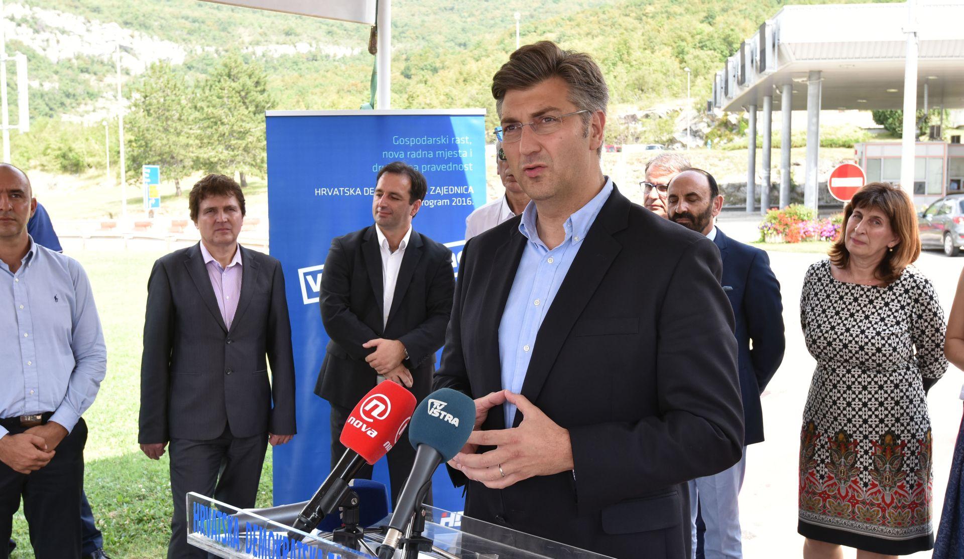 Plenković: Istra i Primorsko-goranska županija jednako su nam važni kao i drugi dijelovi Hrvatske