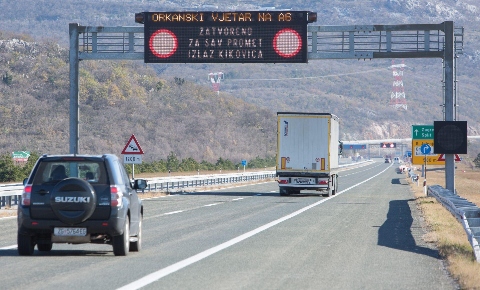 HAK Jak vjetar ograničava promet, nesreća na zagrebačkoj obilaznici