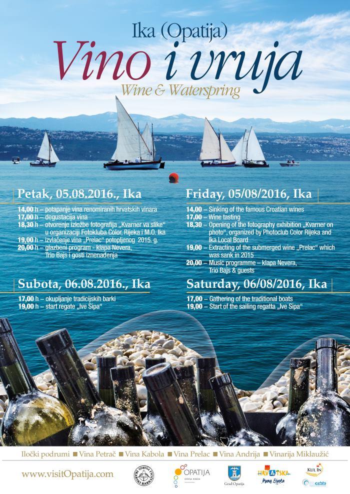 Program manifestacije 'Vino i Vruja' (5. i 6. kolovoza)