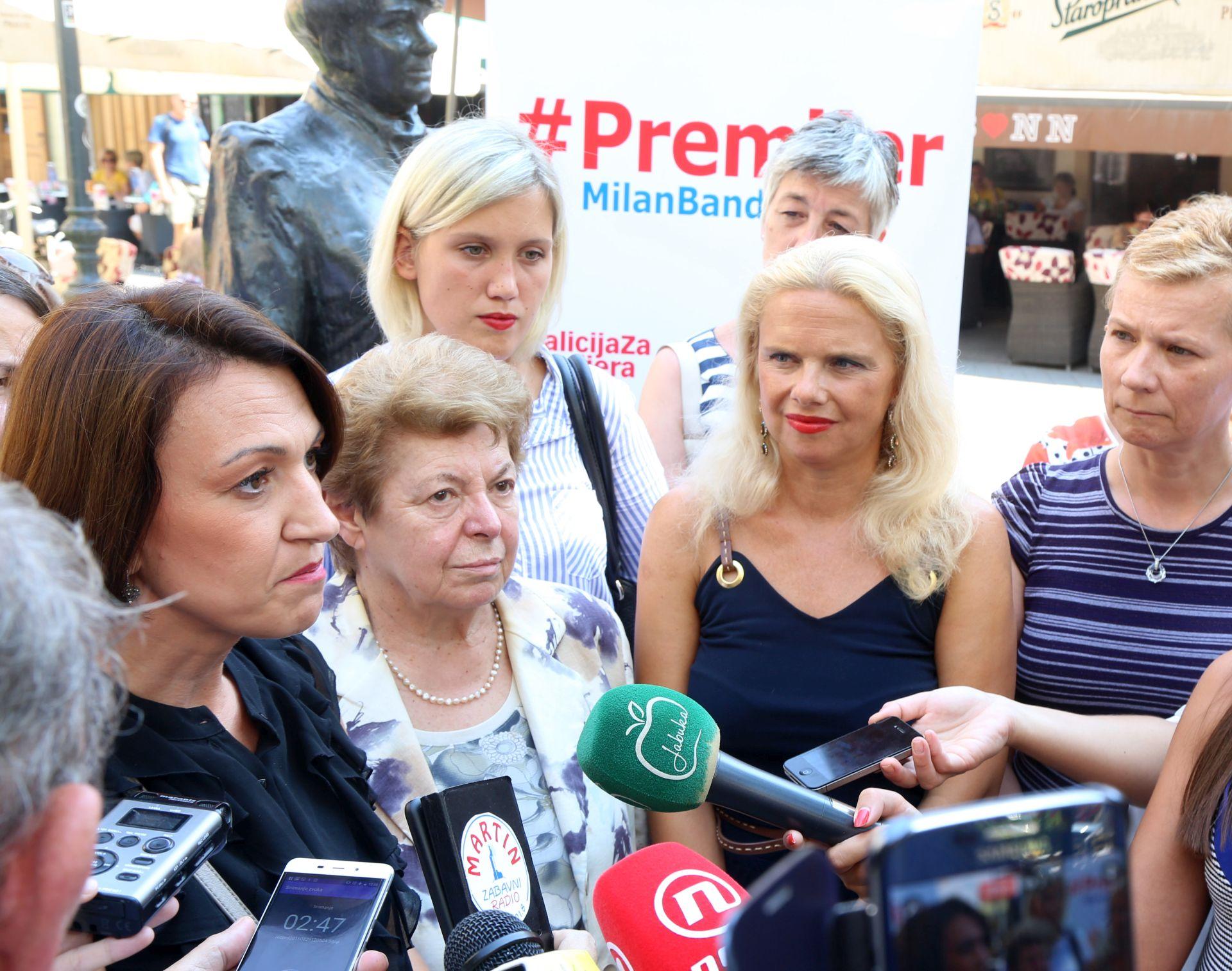 KOALICIJA ZA PREMIJERA: Kandidatkinje koalicije za veću zastupljenost žena u politici